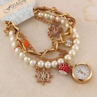 5.Caribbean ladies bracelet watch RED (Code B2 )-750