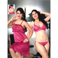 baby-doll-peppy-pink-lace-satin-nighty