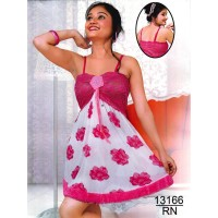 pink-mesh-rosette-nightie